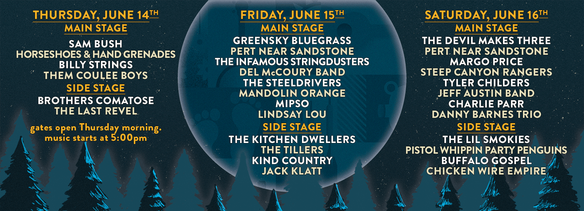 2018 Blue Ox Music Festival Daily Lineup
