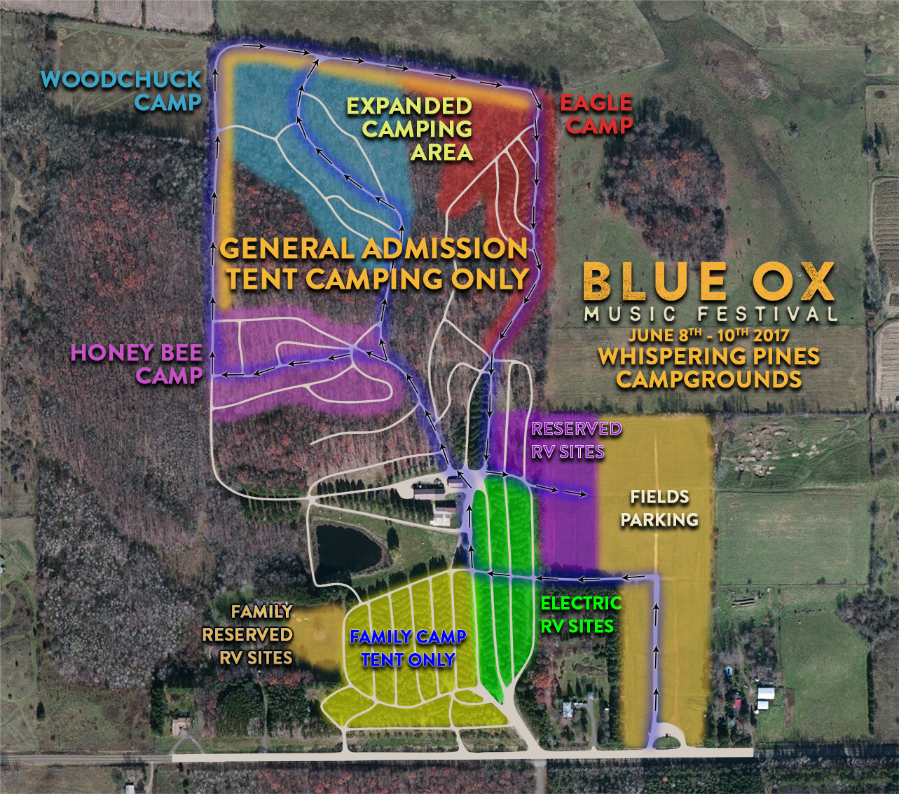 Blue Ox Music Festival Parking and Camping Information