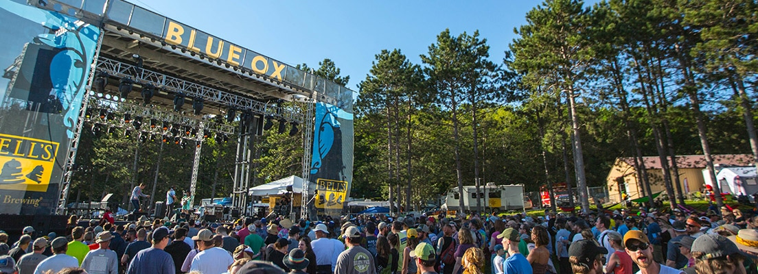 Stage at Blue Ox Music Festival