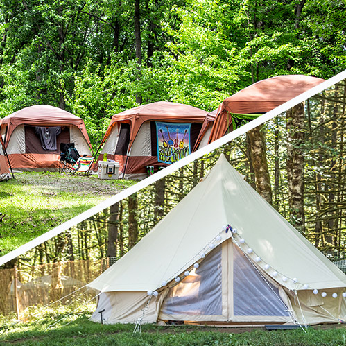 Basecamp Glamping at Blue Ox Music Festival