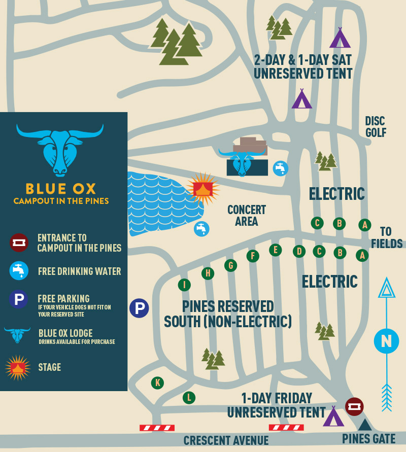 Blue Ox Campout Map