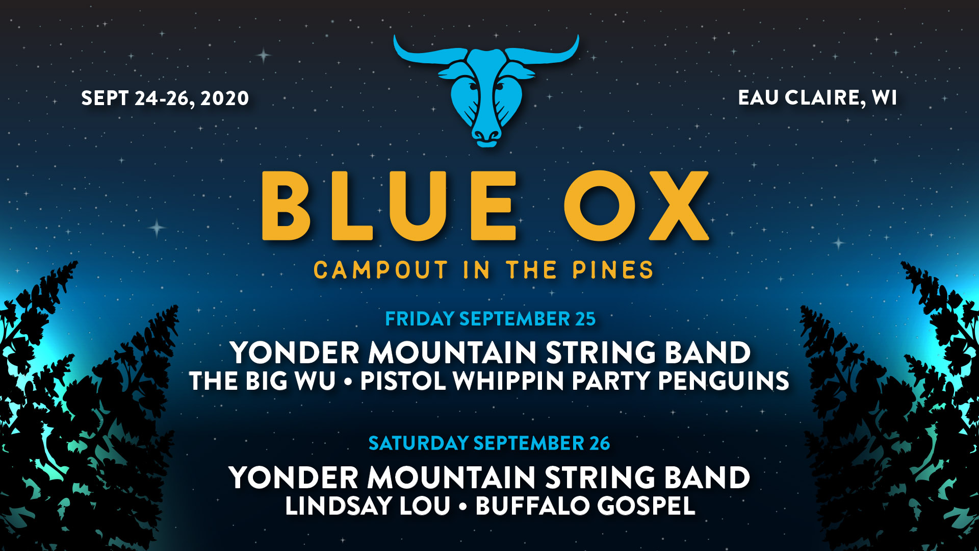 Blue Ox Campout Lineup September
