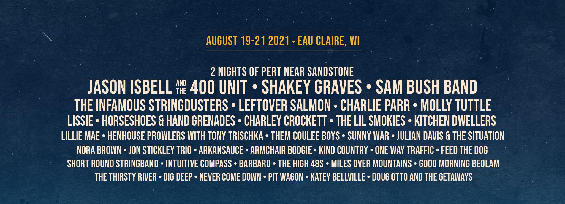 2021 Blue Ox Music Festival Lineup Slider
